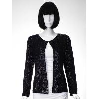 Silk Beaded Sequins Woven Cardigan