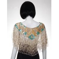 Beaded Cape with Fringes
