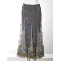 Mesh Embroidery Skirt